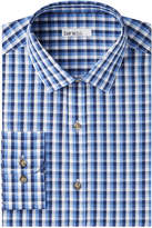 Bar III Men's Slim-Fit Stretch Easy-Care Blue Flower Dobby Dress Shirt, Created for Macy's