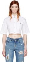 Versus White Cropped Poplin Shirt