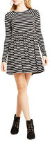 BCBGeneration Striped Babydoll Dress