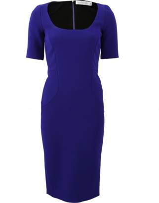 Victoria Beckham Decollette Fitted Dress