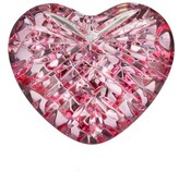 Waterford Giftology Pink Heart Paperweight - White