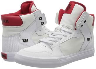 Supra Vaider (White/Red/White) Men's Shoes