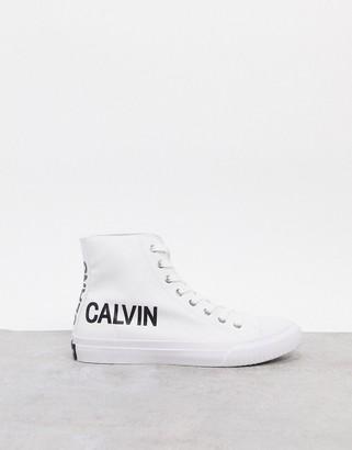 Calvin Klein Jeans Iacopo canvas high top sneakers