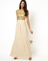 Little Mistress Maxi Dress with Sequin Bodice