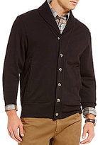 Daniel Cremieux Long-Sleeve Elbow-Patch Shawl Cardigan