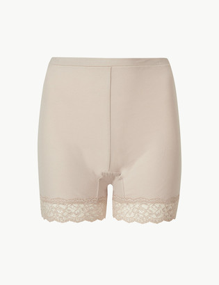 Marks and Spencer Cotton Rich High Rise Longline Shorts