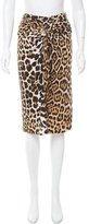 Blumarine Leopard Print Knee-Length Skirt
