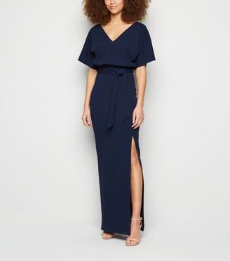 New Look Belted Side Split Maxi Dress