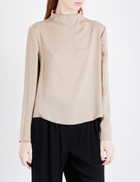 Armani Collezioni High-neck silk top