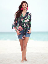 New York & Co. Sweet Pea - Flutter-Sleeve Kimono Jacket - Floral