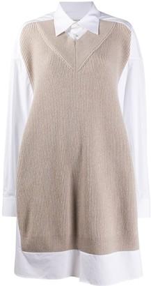 Maison Margiela Jumper-Effect Shirt Dress