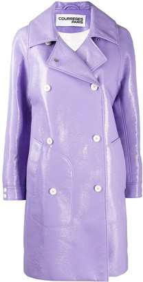 Courreges Straight Double-Breasted Coat