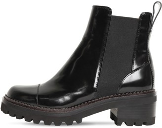 See by Chloe 40mm Brushed Leather Beatle Boots