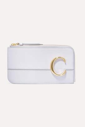 Chloé C Embellished Leather Wallet - Light gray