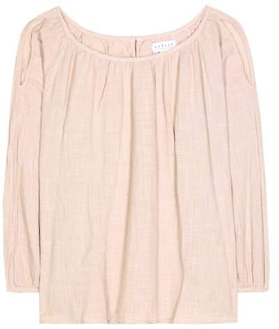 Velvet Marcelle cold-shoulder cotton top