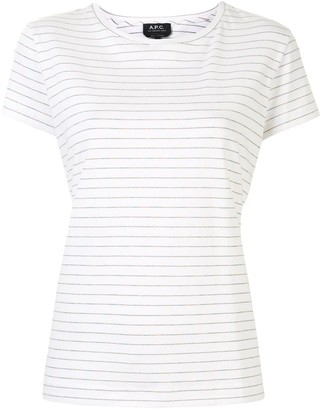 A.P.C. Anita glitter striped T-shirt