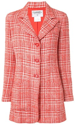 Chanel Pre Owned 1997 Check Tailored Coat