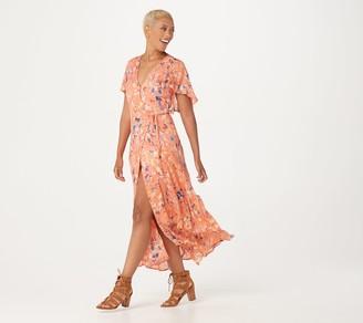 Haute Hippie Tribe 'Luna' Wrap Maxi Dress