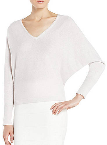 BCBGMAXAZRIA Wyatt Long-Sleeve Metallic Sweater