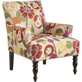 Pier 1 Imports Liliana Red Floral Armchair