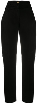 Alberta Ferretti High-Waisted Straight Jeans