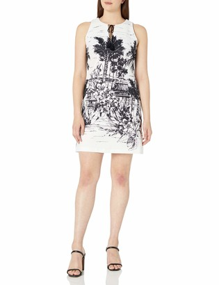 Julian Taylor Women's Sleeveless Beach Print Dress