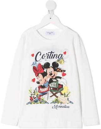 MonnaLisa Mickey Mouse long-sleeved T-shirt