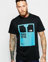 The North Face T-shirt With Mountain Jacket Print - Black