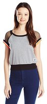 Southpole Junior's Mesh French Terry Crop Sweatshirt