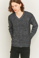 Cheap Monday Curve Black And White V-neck Mix Knit Jumper