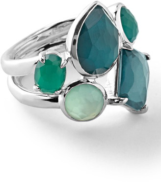 Ippolita Sterling Silver Rock Candy Wonerland Multi Stone Prong and Bezel Ring in Neptune