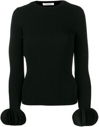 Valentino Embroidered Stretch Jumper