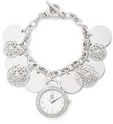 New York & Co. Sparkling Charm Bracelet Watch