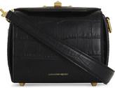 Alexander McQueen Crocodile-embossed leather shoulder bag