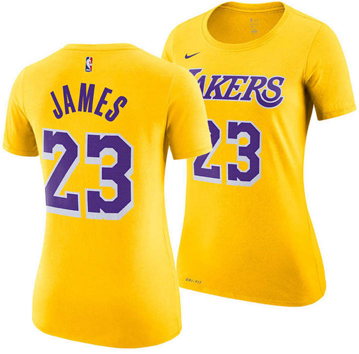 newest 0dcb9 ffd03 Women LeBron James Los Angeles Lakers Name & Number Player T-Shirt