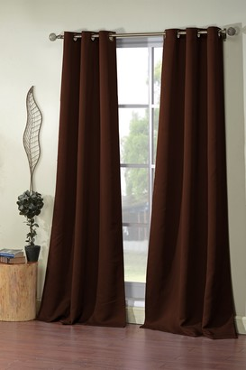 Duck River Textile Steyna Solid Blackout Curtain Set - Chocolate