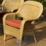 Sangria Fleischmann Stacking Patio Dining Chair with Cushion Darby Home Co Finish: Mojave, Fabric: Montfleuri