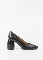 Dries Van Noten black leather heel