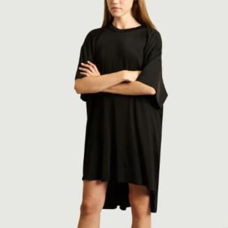 Maison Margiela Black Oversized Dress - xs | cotton | black - Black/Black