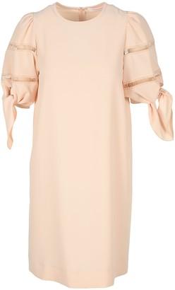See by Chloe Sleeve-knot Mini Dress