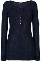Dondup buttoned neck jumper