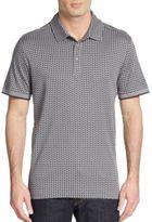 Saks Fifth Avenue Pima Geo-Print Polo Shirt