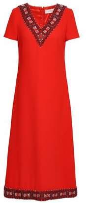 Goat Glam Embellished Wool-crepe Midi Dress