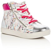 Steve Madden Girls' Splash High Top Sneakers - Little Kid, Big Kid
