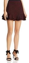 Aqua Ruffled Geometric Print Skirt - 100% Exclusive