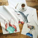 west elm Dapper Animal Tea Towels (Set of 3) - Summer