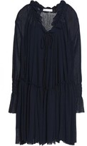See By Chloé Ruffle-Trimmed Cotton-Gauze Dress