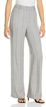 b new york Striped Wide-Leg Pants