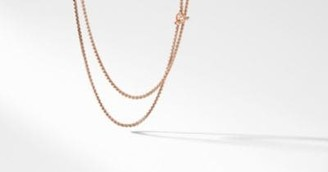 David Yurman Dy Bel Aire Chain Necklace In Matte Rose Goldtone With