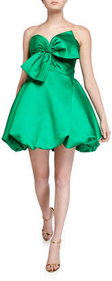 Jovani Strapless Bow Front Bubble Mini Cocktail Dress